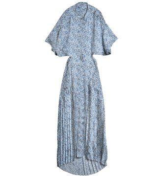 蓝色碎花长裙