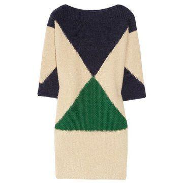 几何针织连衣裙