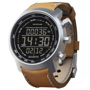 Terra-山雄系列 棕色真皮电脑芯片腕表