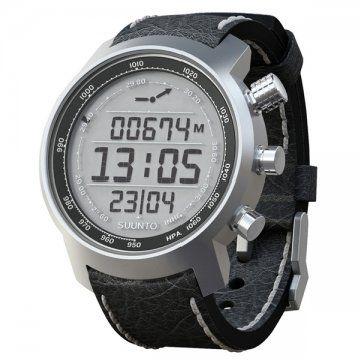 Terra-山雄系列 黑色真皮电脑芯片腕表
