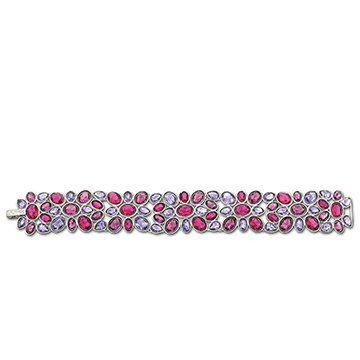 紫红色花瓣状手链