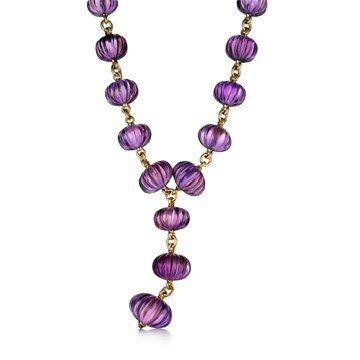 18k黄金紫水晶项链