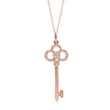 Keys 玫瑰金吊坠