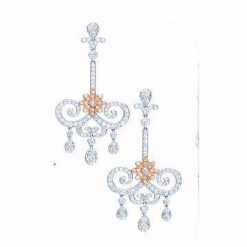 Enchant珠宝系列铂金耳坠