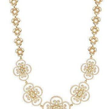 Goldoni18k黄金镶钻项链