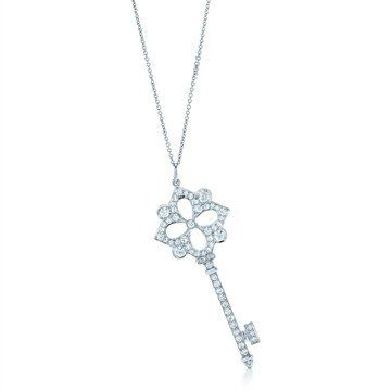 Keys 珠宝系列纯银和 18K 金吊坠