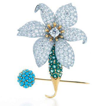 Blue Book华贵珠宝系列胸针
