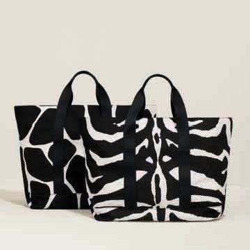 黑白纹购物袋