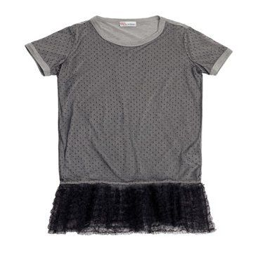 garavani蕾丝衬底灰色t-shirt