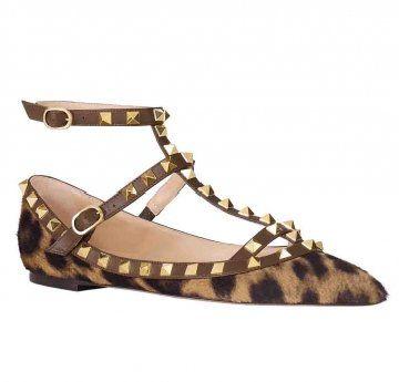 平底豹纹罗马鞋
