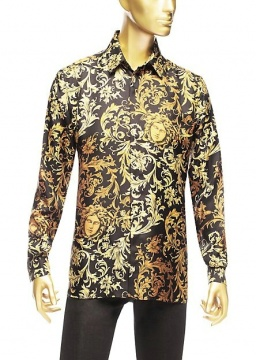 Medusa-Barocco Silk Shirt
