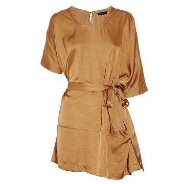 棕色连身裙