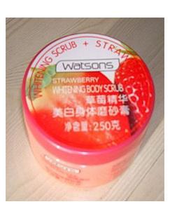 屈臣氏草莓美白身体磨砂膏