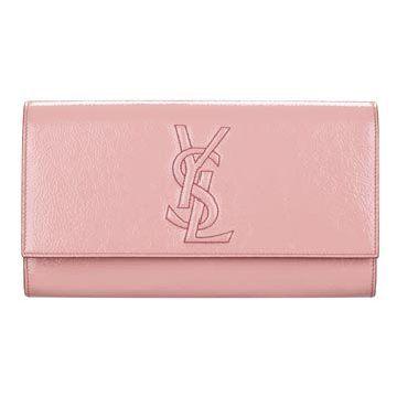 粉色漆皮手拿包