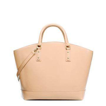米色皮革手提包