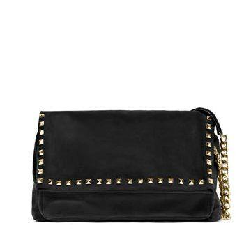 黑色麂皮手提包