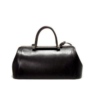 黑色皮革手提包