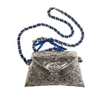 金属雕花单肩包