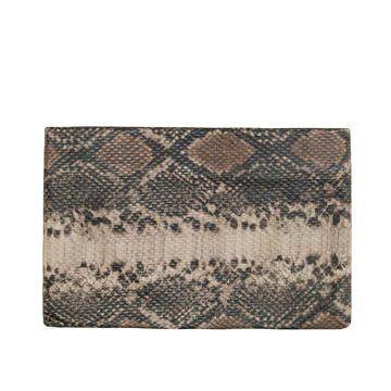 蟒蛇纹皮革手拿包