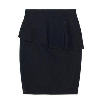 黑色荷叶边半裙