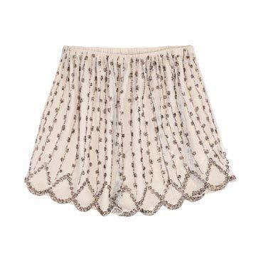 米色雪纺半裙