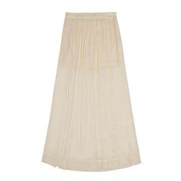 珍珠白亮缎半裙