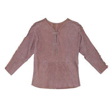 烟灰紫绒面长袖