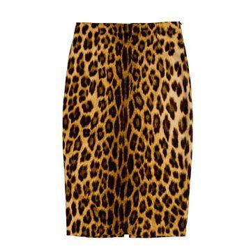 黄色豹纹半裙