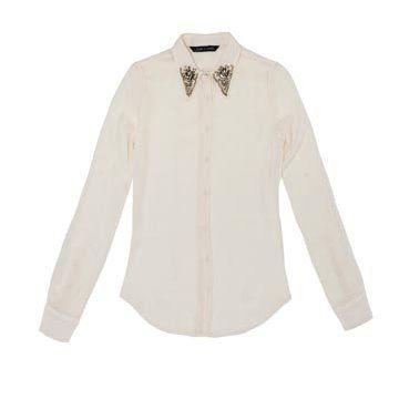 白色棉麻衬衫