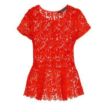 红色蕾丝连衣裙