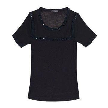 黑色针织短袖