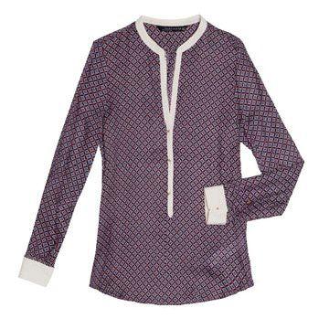 紫色格纹衬衫