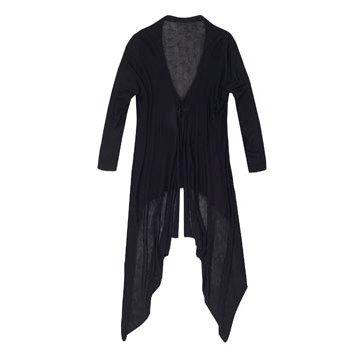 黑色雪纺外套