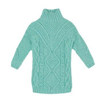 水蓝色羊毛针织衫