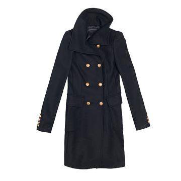 黑色羊羊大衣