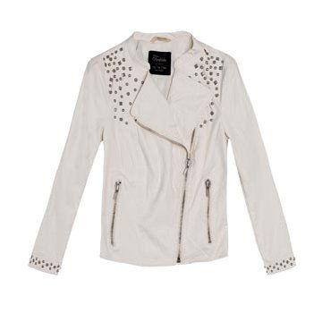 白色皮革外套