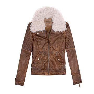 棕色皮革外套
