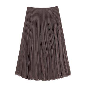 藕色薄纱长裙