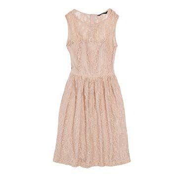 裸色蕾丝连衣裙