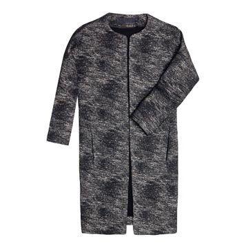 烟灰色长款外套