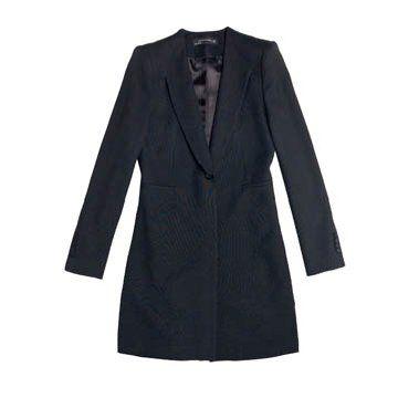 黑色V领外套