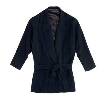 黑色短款外套