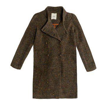 棕色针织外套