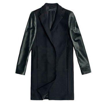 黑色长款外套