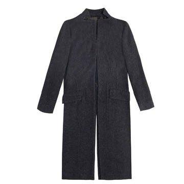 铅灰色长款外套