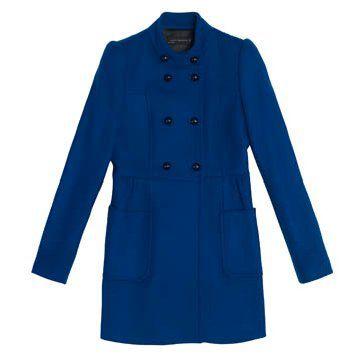 钴蓝色长款外套