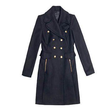 藏蓝色长款外套