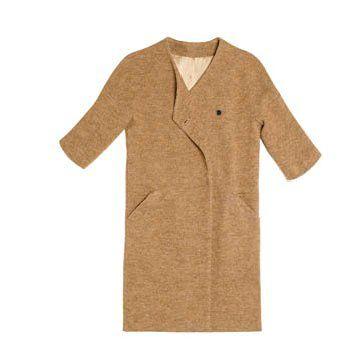 浅咖色中袖外套