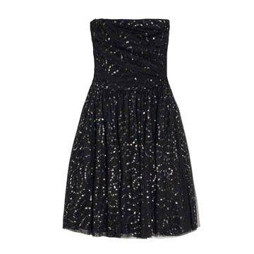 黑色亮片连衣裙