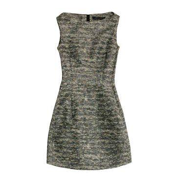 混纺条纹连衣裙